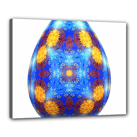 Easter Eggs Egg Blue Yellow Canvas 20  x 16