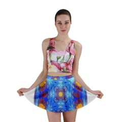 Easter Eggs Egg Blue Yellow Mini Skirt