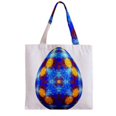 Easter Eggs Egg Blue Yellow Grocery Tote Bag