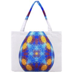 Easter Eggs Egg Blue Yellow Mini Tote Bag