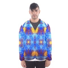 Easter Eggs Egg Blue Yellow Hooded Wind Breaker (men)