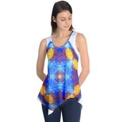 Easter Eggs Egg Blue Yellow Sleeveless Tunic