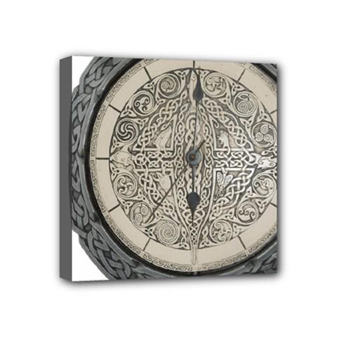 Clock Celtic Knot Time Celtic Knot Mini Canvas 4  x 4