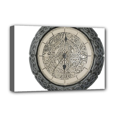 Clock Celtic Knot Time Celtic Knot Deluxe Canvas 18  X 12