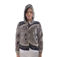 Clock Celtic Knot Time Celtic Knot Hooded Wind Breaker (women)