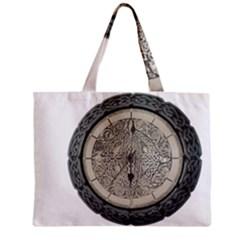 Clock Celtic Knot Time Celtic Knot Zipper Mini Tote Bag