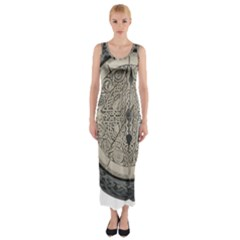 Clock Celtic Knot Time Celtic Knot Fitted Maxi Dress