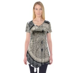 Clock Celtic Knot Time Celtic Knot Short Sleeve Tunic