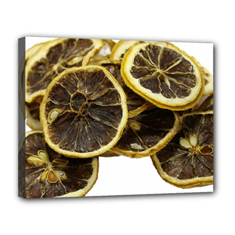 Lemon Dried Fruit Orange Isolated Canvas 14  x 11