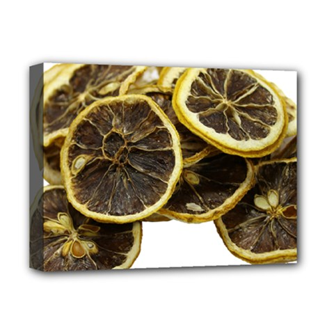 Lemon Dried Fruit Orange Isolated Deluxe Canvas 16  X 12