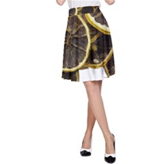 Lemon Dried Fruit Orange Isolated A Line Skirt