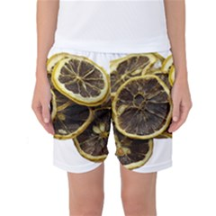Lemon Dried Fruit Orange Isolated Women s Basketball Shorts