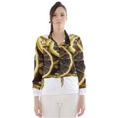 Lemon Dried Fruit Orange Isolated Wind Breaker (women)