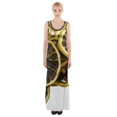 Lemon Dried Fruit Orange Isolated Maxi Thigh Split Dress