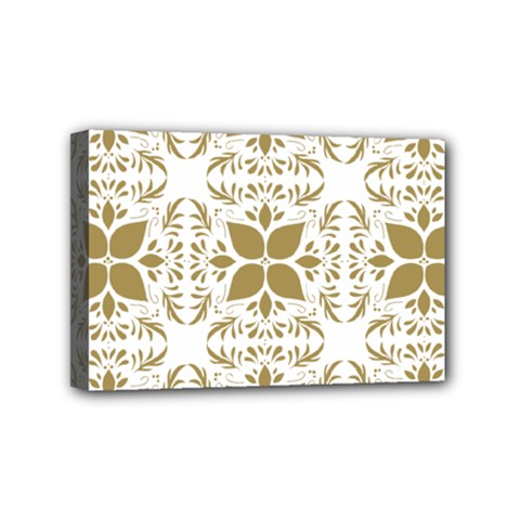 Pattern Gold Floral Texture Design Mini Canvas 6  x 4