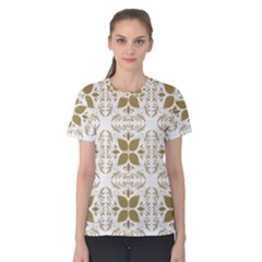 Pattern Gold Floral Texture Design Women s Cotton Tee