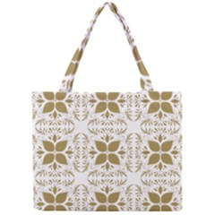 Pattern Gold Floral Texture Design Mini Tote Bag