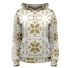 Pattern Gold Floral Texture Design Women s Pullover Hoodie