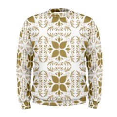 Pattern Gold Floral Texture Design Men s Sweatshirt