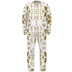 Pattern Gold Floral Texture Design Onepiece Jumpsuit (men)