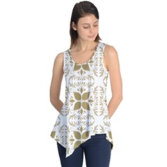 Pattern Gold Floral Texture Design Sleeveless Tunic