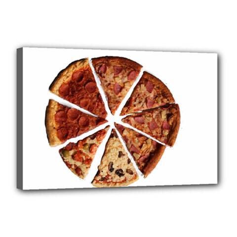 Food Fast Pizza Fast Food Canvas 18  x 12