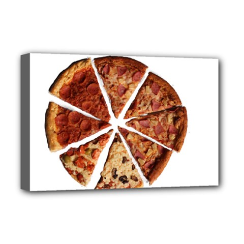 Food Fast Pizza Fast Food Deluxe Canvas 18  X 12