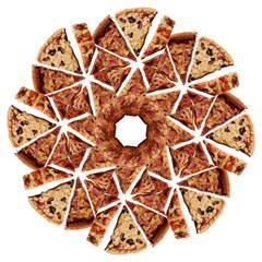 Food Fast Pizza Fast Food Hook Handle Umbrellas (Medium)