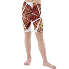 Food Fast Pizza Fast Food Kids  Mid Length Swim Shorts