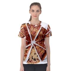 Food Fast Pizza Fast Food Women s Sport Mesh Tee