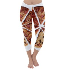Food Fast Pizza Fast Food Capri Winter Leggings