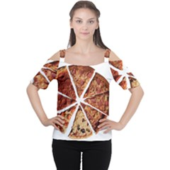 Food Fast Pizza Fast Food Women s Cutout Shoulder Tee