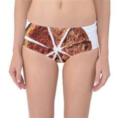 Food Fast Pizza Fast Food Mid-Waist Bikini Bottoms