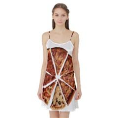 Food Fast Pizza Fast Food Satin Night Slip