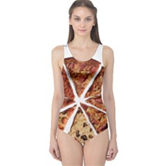 Food Fast Pizza Fast Food One Piece Swimsuit