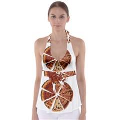 Food Fast Pizza Fast Food Babydoll Tankini Top