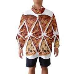 Food Fast Pizza Fast Food Wind Breaker (Kids)