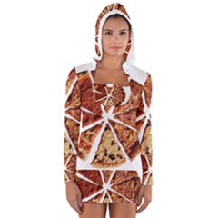 Food Fast Pizza Fast Food Women s Long Sleeve Hooded T Shirt