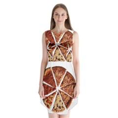 Food Fast Pizza Fast Food Sleeveless Chiffon Dress