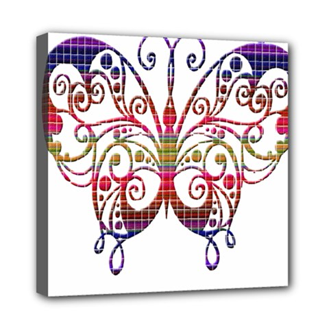 Butterfly Nature Abstract Beautiful Mini Canvas 8  x 8