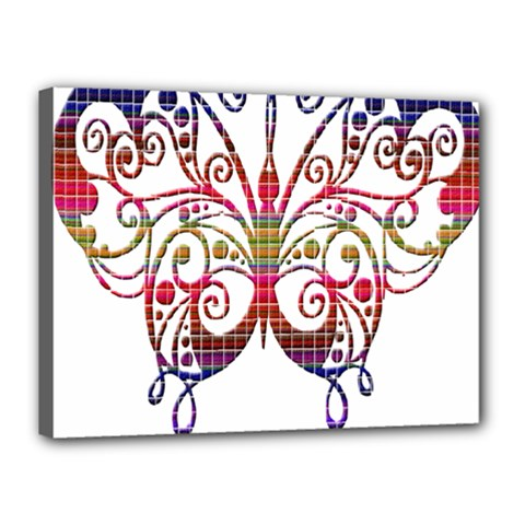 Butterfly Nature Abstract Beautiful Canvas 16  X 12