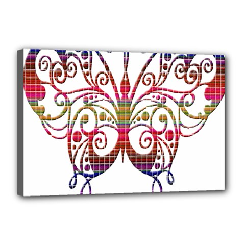 Butterfly Nature Abstract Beautiful Canvas 18  x 12