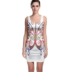 Butterfly Nature Abstract Beautiful Sleeveless Bodycon Dress