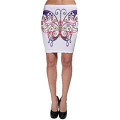 Butterfly Nature Abstract Beautiful Bodycon Skirt