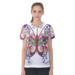 Butterfly Nature Abstract Beautiful Women s Sport Mesh Tee