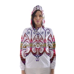Butterfly Nature Abstract Beautiful Hooded Wind Breaker (women)
