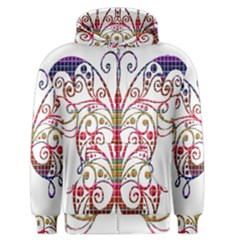 Butterfly Nature Abstract Beautiful Men s Zipper Hoodie