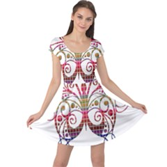 Butterfly Nature Abstract Beautiful Cap Sleeve Dresses