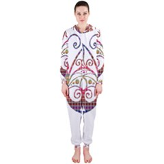 Butterfly Nature Abstract Beautiful Hooded Jumpsuit (ladies)
