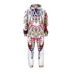 Butterfly Nature Abstract Beautiful Hooded Jumpsuit (kids)